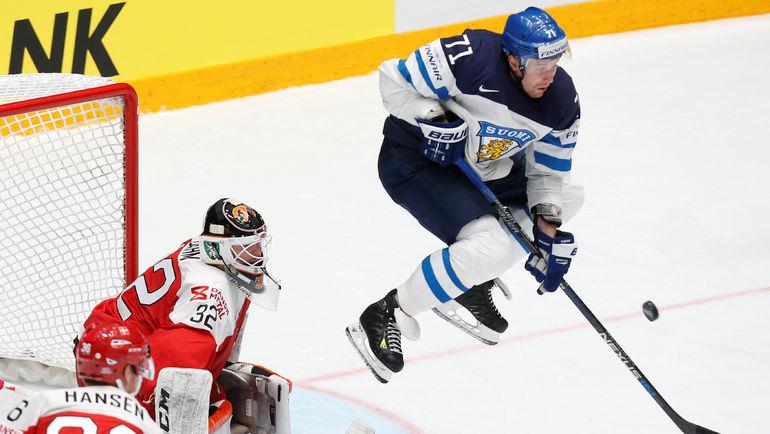 Нападающий сборной Финляндии Лео КОМАРОВ. Фото AFP