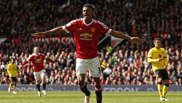 "Нападающий ""Манчестер Юнайтед"" Маркус РЭШФОРД. Фото Reuters"