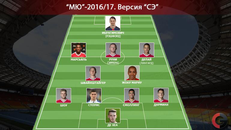 """Возможный состав """"МЮ"""" в сезоне-2016/17. Фото «СЭ»"""