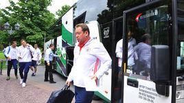 Сегодня. Бад-Рагац. Сборная Леонида СЛУЦКОГО начала подготовку к Euro-2016 в Швейцарии.