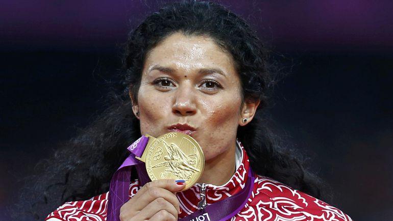 11 августа 2012 года. Лондон. Татьяна БЕЛОБОРОДОВА (ЛЫСЕНКО) - олимпийская чемпионка. Фото Reuters
