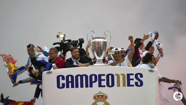 """Сегодня. Мадрид. """"Реал"""" празднует победу в Лиге чемпионов."""
