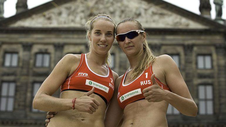 Евгения УКОЛОВА и Екатерина БИРЛОВА. Фото FIVB