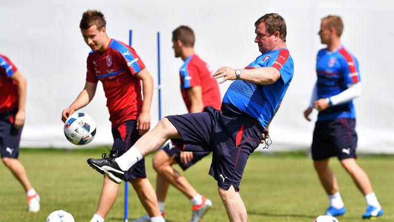Павел ВРБА на тренировке сборной Чехии. Фото AFP