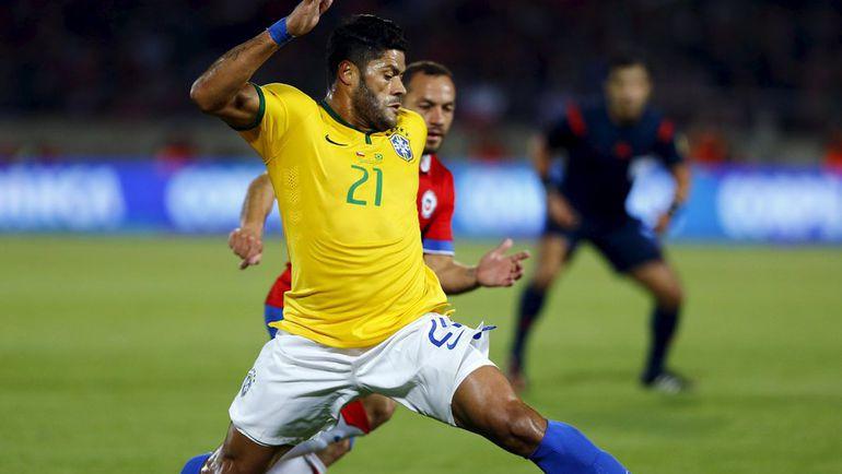 нападающий сборной Бразилии ХАЛК. Фото REUTERS