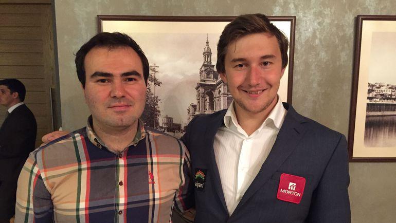 Шахрияр МАМЕДЬЯРОВ и Сергей КАРЯКИН. Фото Этери КУБЛАШВИЛИ.