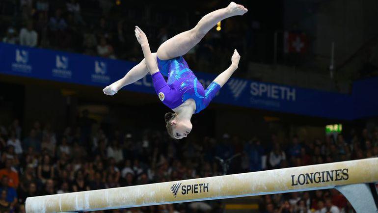 Берн. ЧЕ по спортивной гимнастике. Соревнования на бревне.Алия МУСТАФИНА.
