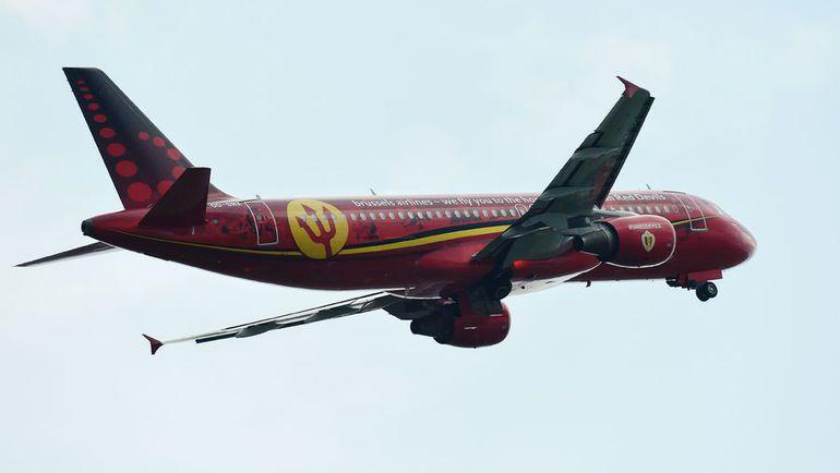Самолет сборной Бельгии. Фото AFP