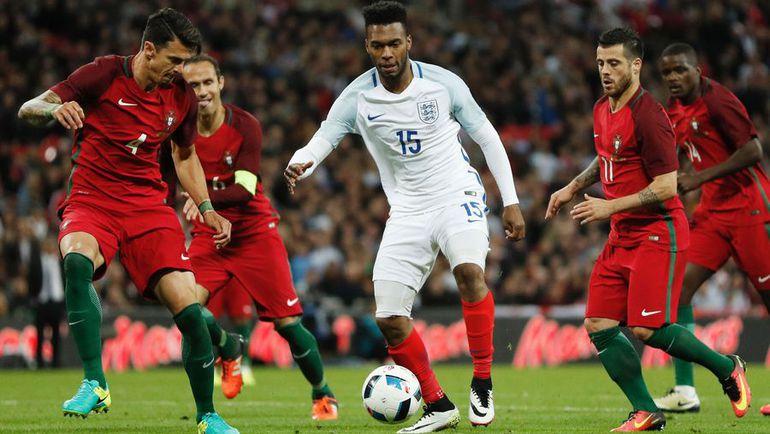 2 июня. Лондон. Англия - Португалия - 1:0. С мячом Дэниэл СТАРРИДЖ. Фото AFP