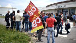 Париж. Забастовка рабочих во Франции.