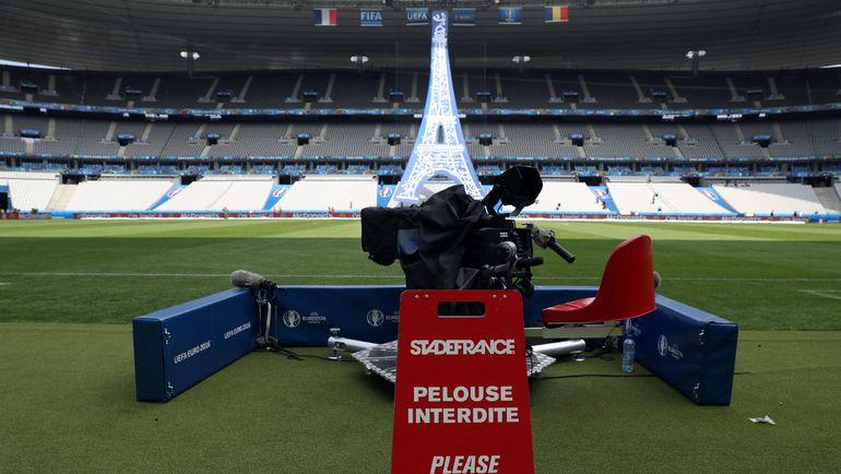 "Место оператора на ""Стад де Франс"". Фото AFP"