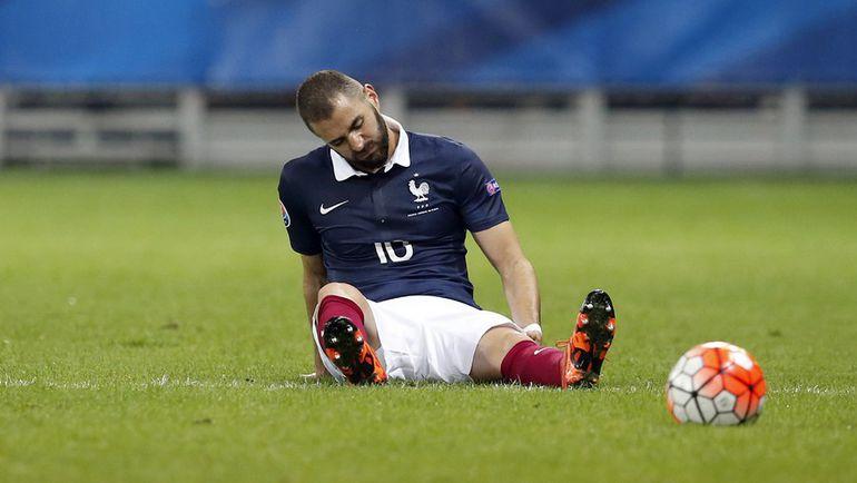 Нападающий сборной Франции Карим БЕНЗЕМА. Фото AFP