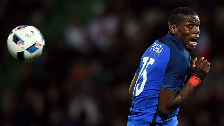 Полузащитник сборной Франции Поль ПОГБА. Фото AFP