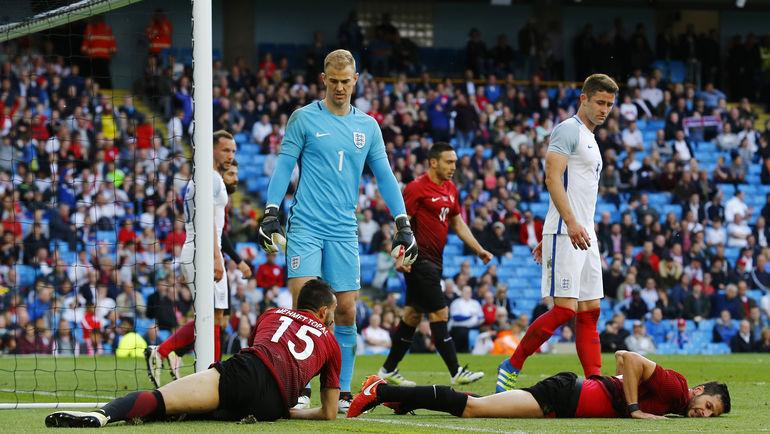 Вратарь сборной Англии Джо ХАРТ (№1). Фото Reuters