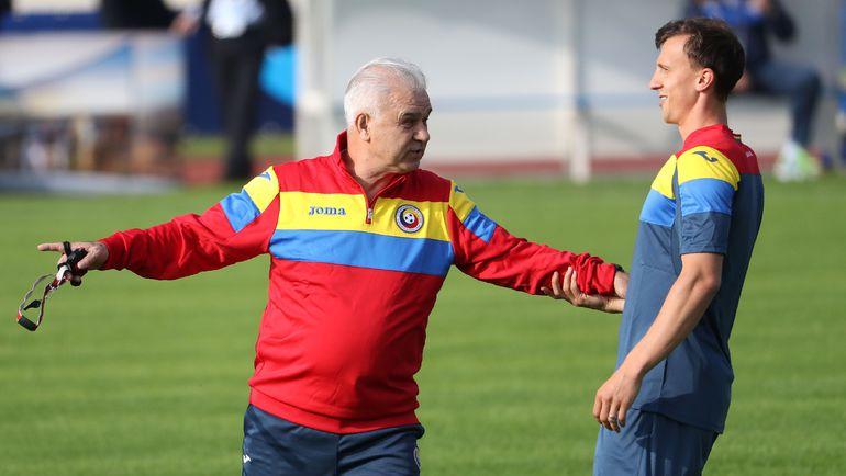 Влад КИРИКЕШ и главный тренер сборной Румынии Ангел ИОРДАНЕСКУ. Фото AFP
