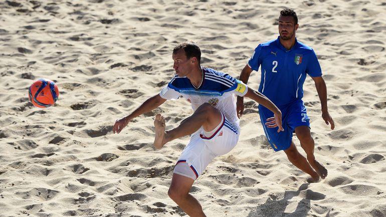 Сегодня. Эшпинью. Россия - Италия - 5:2. С мячом - автор первого гола Егор ШАЙКОВ. Фото AFP