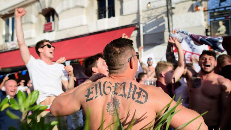 Болельщики сборной Англии в Марселе. Фото AFP