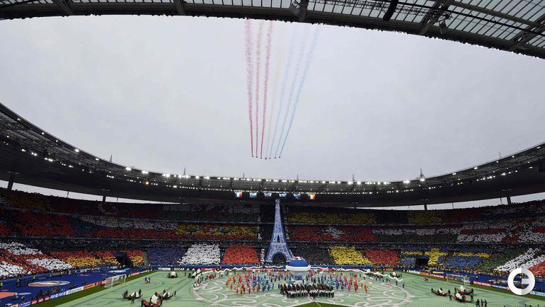 Сегодня. Париж. Церемония открытия чемпионата Европы.
