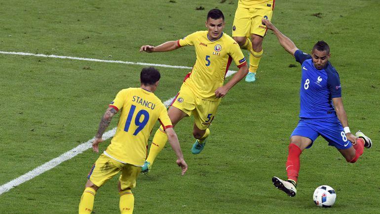 Сегодня. Сен-Дени. Франция - Румыния - 2:1. Димитри ПАЙЕТ: победный гол на 89-й минуте. Фото AFP