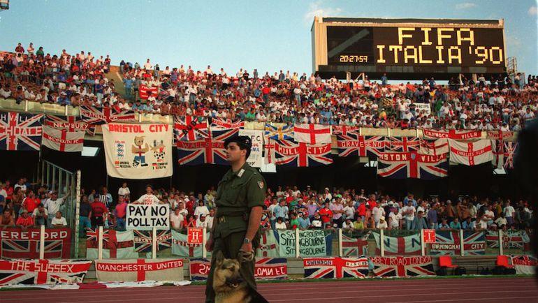 ЧМ-1990 - единственный повод, когда англичане могли централизованно отправиться поболеть за любимую сборную.