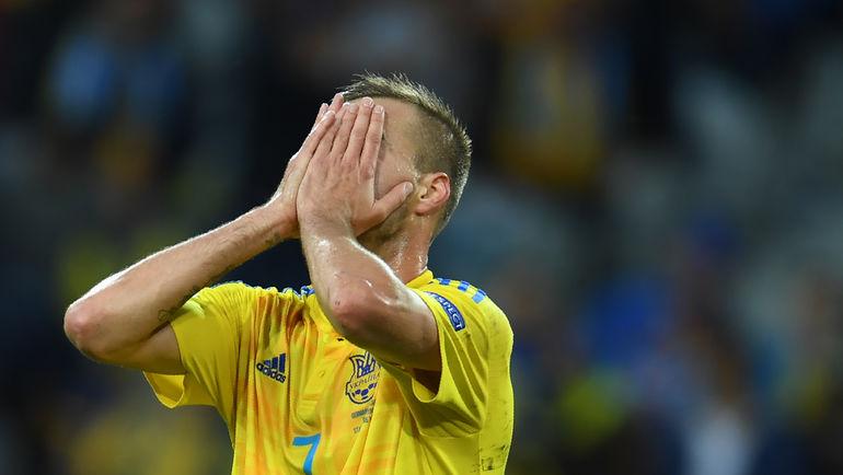 Воскресенье. Лилль. Германия - Украина - 2:0. Андрей ЯРМОЛЕНКО. Фото AFP