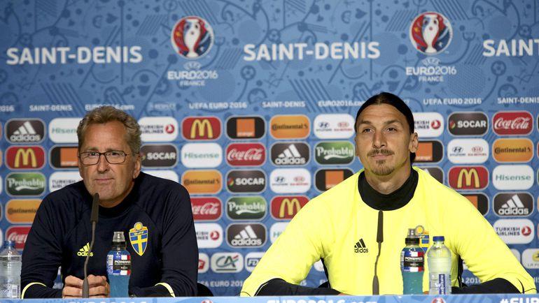 Эрик ХАМРЕН и Златан ИБРАГИМОВИЧ. Фото Reuters