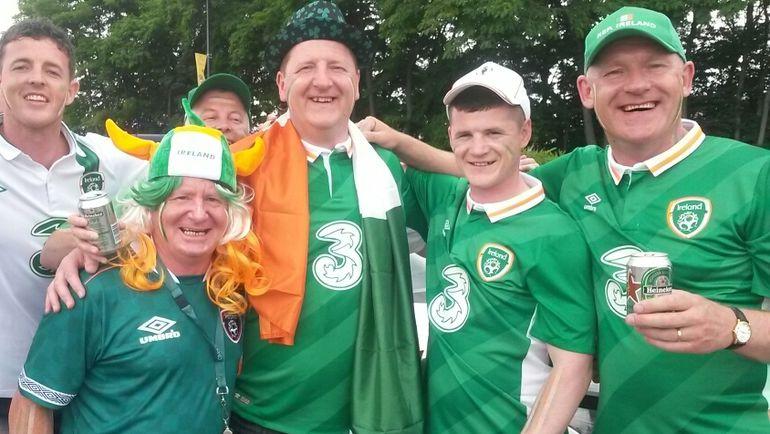 Понедельник. Сен-Дени. Ирландские фанаты. Фото Александр ПРОСВЕТОВ, «СЭ»