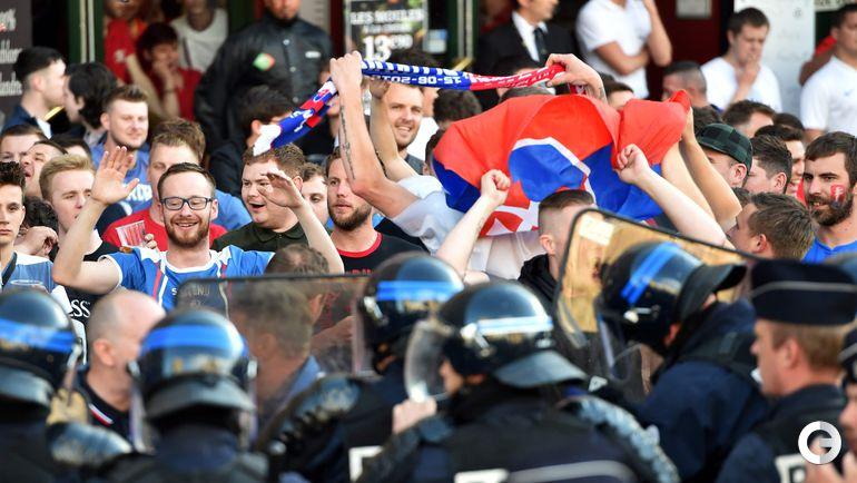 Среда. Лилль. Столкновения полиции и английских фанатов.
