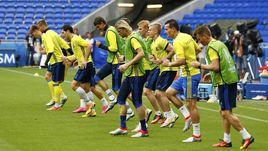 Вчера. Лион. Сборная Украины готовится ко второму матчу на Euro-2016.