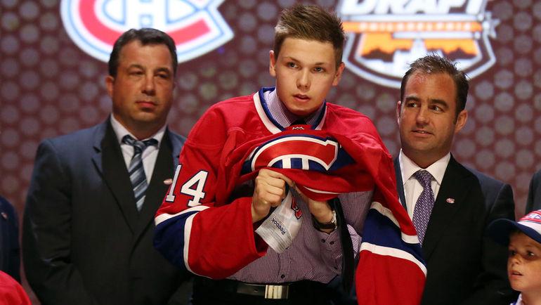 27 июня 2014 года. Никита ЩЕРБАК на драфте НХЛ. Фото USA TODAY Sports