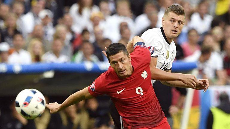 Четверг. Сен-Дени. Германия – Польша – 0:0. Роберт ЛЕВАНДОВСКИ и Тони КРООС.