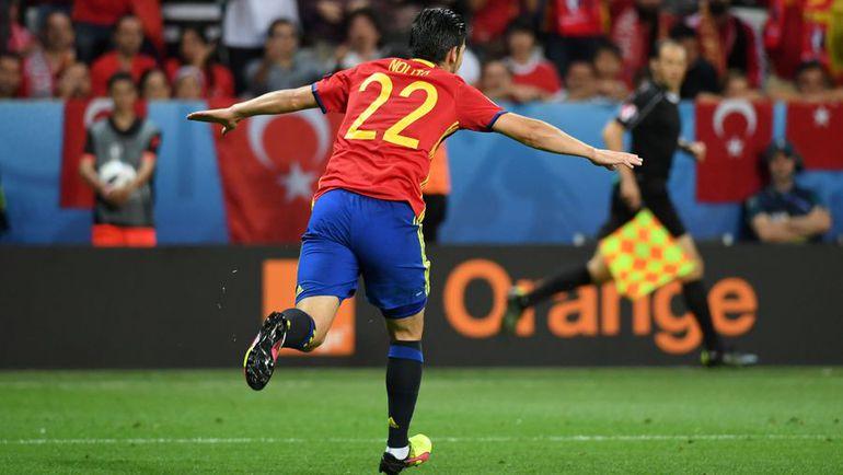 Сегодня. Ницца. Испания - Турция - 3:0. НОЛИТО празднует гол в ворота турок. Фото Reuters