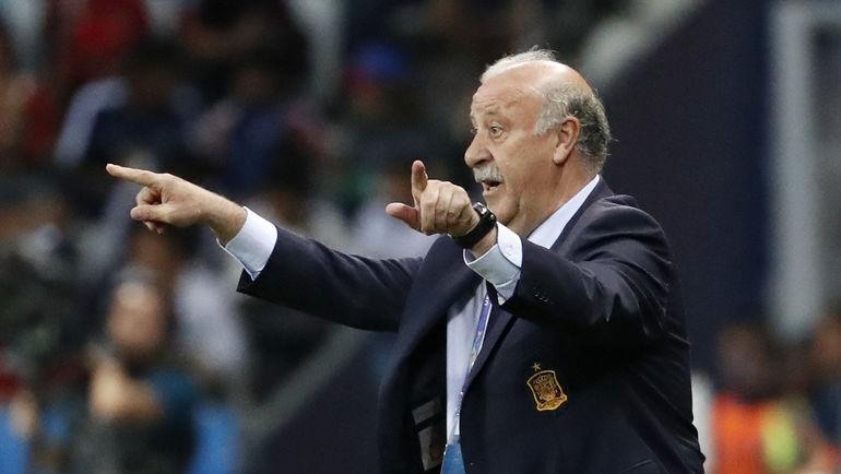 Наставник испанцев Висенте ДЕЛЬ БОСКЕ во время матча. Фото Reuters