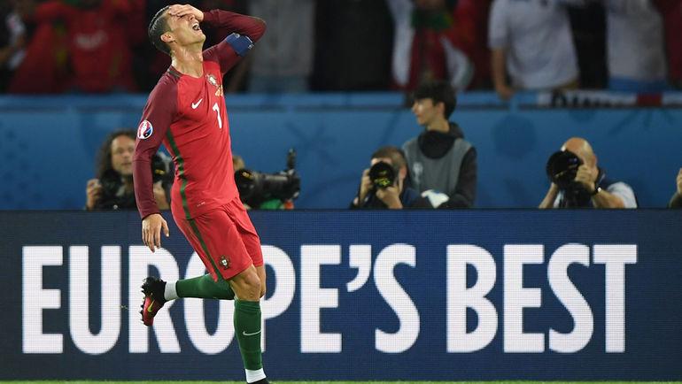 """КРИШТИАНУ РОНАЛДУ и Португалия пока далеко не лучшие в Европе. Фото Александр ФЕДОРОВ, """"СЭ"""""""