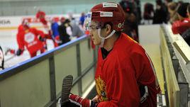 Николай ПРОХОРКИН на тренировке сборной России.