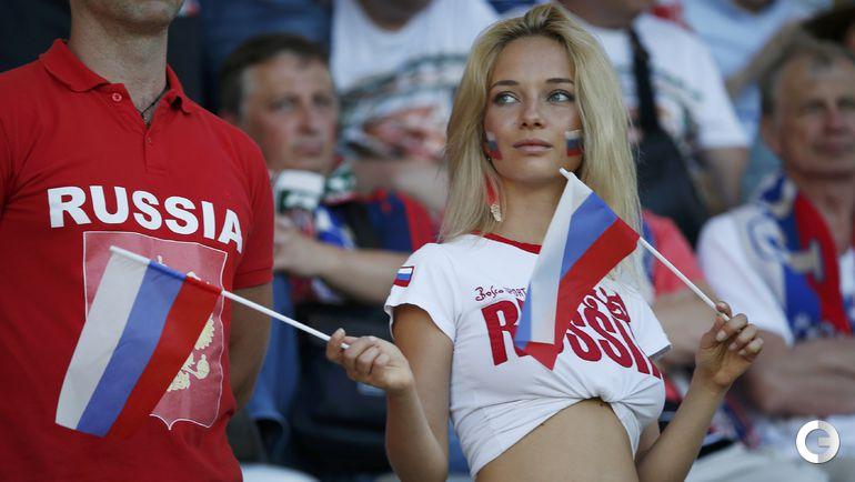 Болельщица сборной России на EURO-2016.