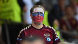 Болельщик сборной России после поражения от Уэльса.