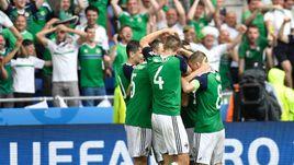 16 июня. Лион. Украина - Сев. Ирландия - 0:2. Островитяне праздную победу, благодаря которой они вышли в плей-офф.