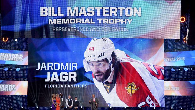 """Среда. Лас-Вегас. Яромир Ягр не приехал получать """"Билл Мастертон"""", но этот момент церемонии все равно получился очень трогательным. Фото AFP"""