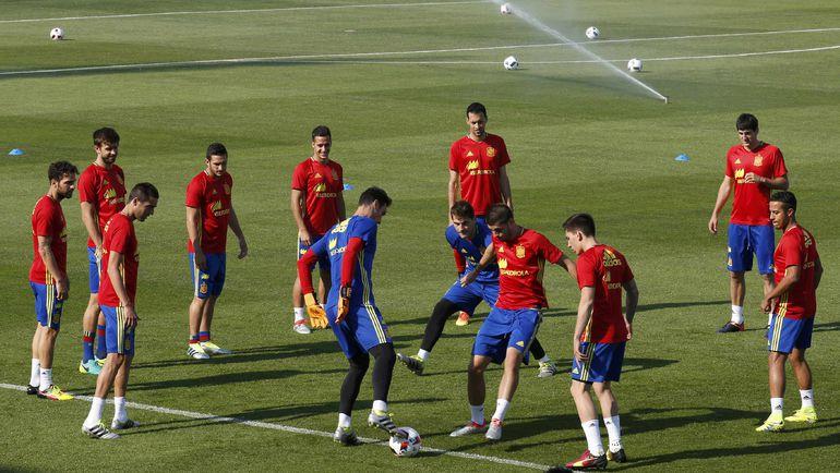 Испания готовится к Италии. Фото Reuters