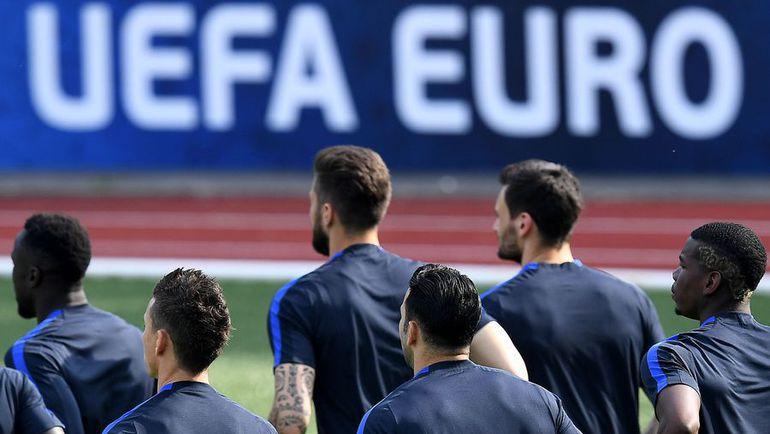 Тренировка сборной Франции. Фото AFP