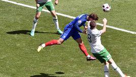 Сегодня. Лион. Франция - Ирландия - 2:1. 58-я минута. Первый гол Антуана ГРИЗМАННА.