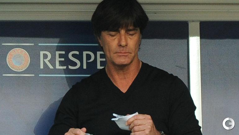 Сегодня. Лилль. Германия - Словакия - 3:0. Главный тренер сборной Германии Йоахим ЛЕВ.