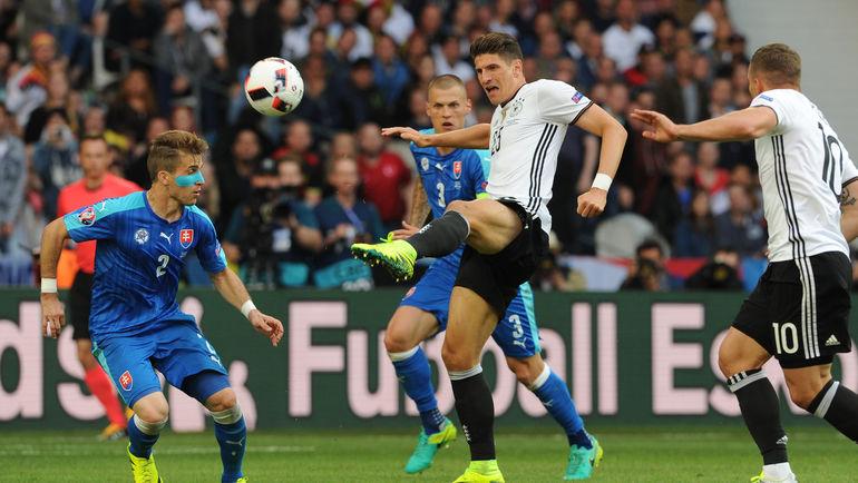 Сегодня. Лилль. Германия - Словакия - 3:0. В игре Марио ГОМЕС. Фото Александр ФЕДОРОВ, «СЭ»