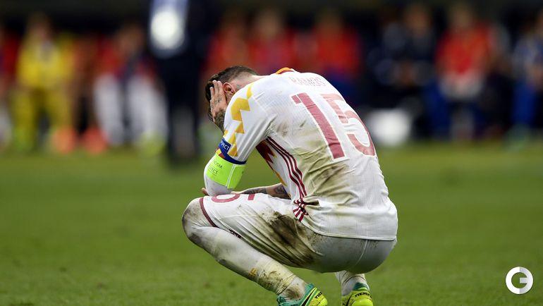 Сегодня. Сен-Дени. Италия – Испания – 2:0. Печаль Серхио РАМОСА.