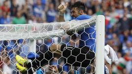 Сегодня. Сен-Дени. Италия - Испания - 2:0. Радость Джанлуиджи БУФФОНА после матча.
