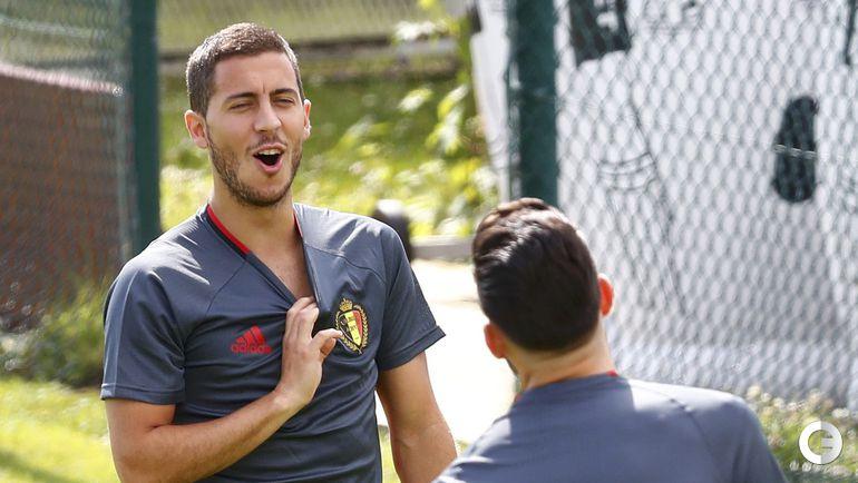 Сегодня. Бордо. Тренировка сборной Бельгии. Эден АЗАР.