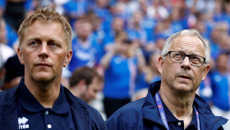 Хеймир ХАЛЬГРИМССОН и Ларс ЛАГЕРБЕК. Фото AFP