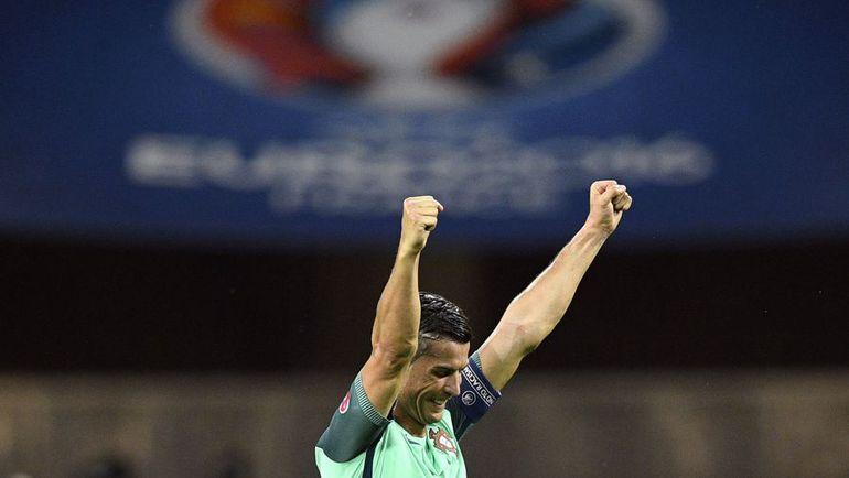 Вчера. Лион. Португалия - Уэльс - 2:0. КРИШТИАНУ РОНАЛДУ. Фото AFP