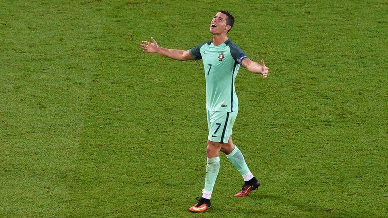 Среда. Лион. Португалия - Уэльс - 2:0. Эмоции Криштиану РОНАЛДУ. Фото AFP